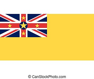 Colored flag of Niue
