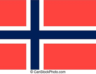 Colored flag of Norway
