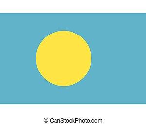 Colored flag of Palau