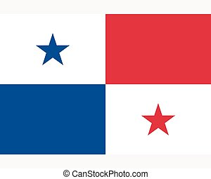 Colored flag of Panama