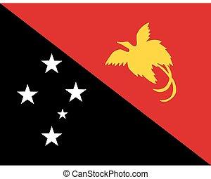 Colored flag of Papua New Guinea