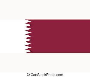 Colored flag of Qatar