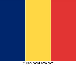 Colored flag of Romania