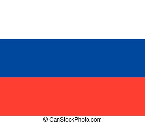Colored flag of Russia