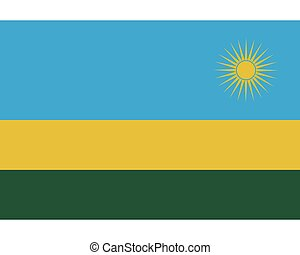 Colored flag of Rwanda