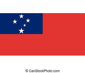 Colored flag of Samoa