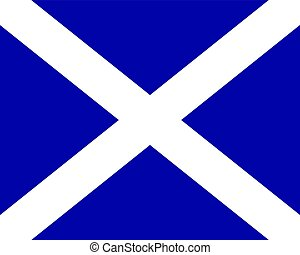 Colored flag of Scotland