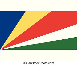 Colored flag of Seychelles