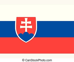 Colored flag of Slovakia