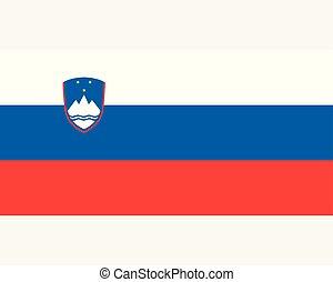 Colored flag of Slovenia