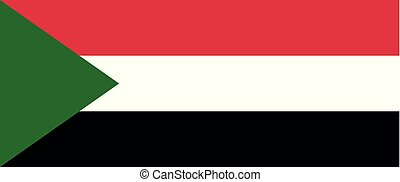 Colored flag of Sudan