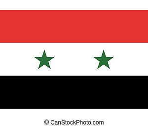 Colored flag of Syria