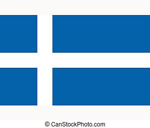 Colored flag of the Shetland Islands