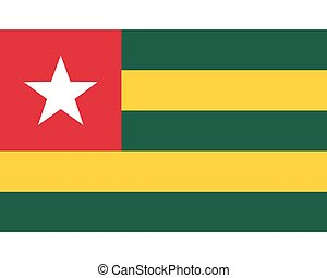 Colored flag of Togo