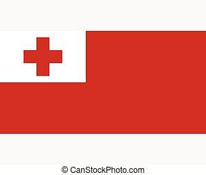 Colored flag of Tonga
