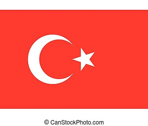 Colored flag of Turkey