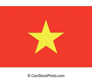 Colored flag of Vietnam