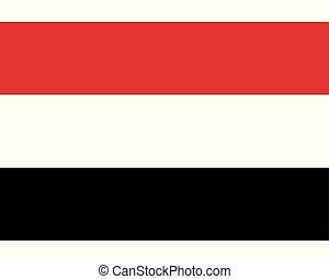Colored flag of Yemen