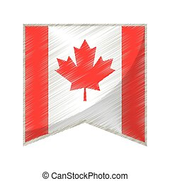 colored flag pennant canadian