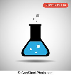 colored flask icon. vector illustration
