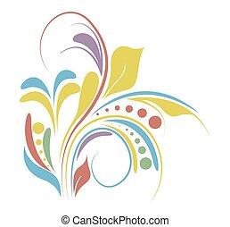Colored Flora Design
