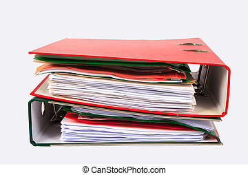 colored folders with documents