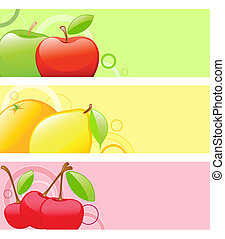 colored fruit backgrounds
