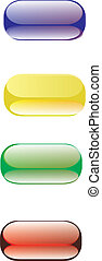 colored gel capsules used in medicine to administer...