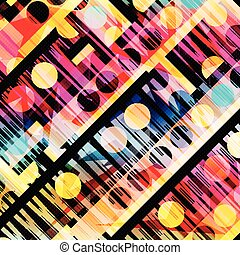 colored geometric abstract pattern