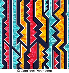 Colored geometric seamless pattern.