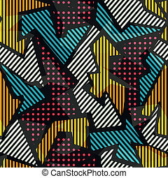colored geometric seamless pattern
