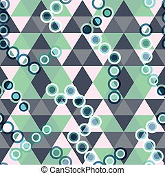 Colored geometric seamless pattern of triangles