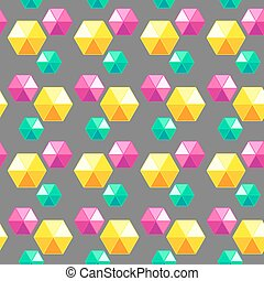 Colored geometric seamless pattern with diamonds. Vector