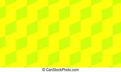 Colored geometric shapes animation background