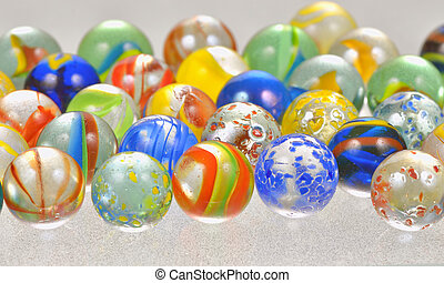glass balls - colored glass balls shoot in studio