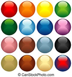 Colored Glass Spheres - colored illustration