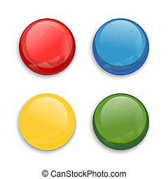 Colored glossy button
