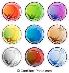 Colored glossy web buttons