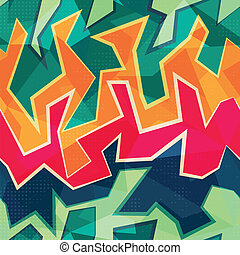 colored graffiti seamless pattern