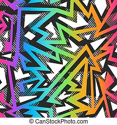 Colored graffiti seamless pattern.