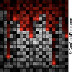 colored gray red blocks - abstract gray colored background...
