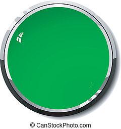 colored green button
