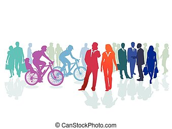 Colored groups