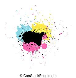 Colored Grunge Splash