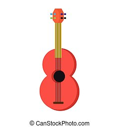 Colored guitar toy icon