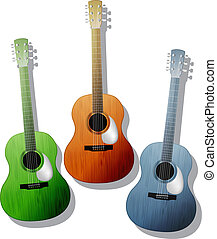 Colored guitars