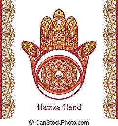 Colored Hamsa Hand