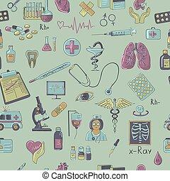 Colored hand draw medicine pattern