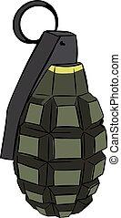 Colored hand grenade