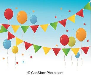 Colored Happy Birthday Balloons